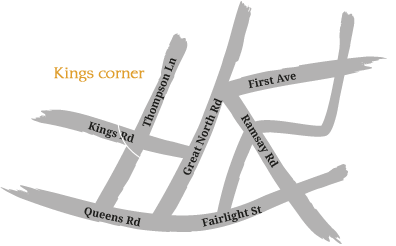 Kings Corner Thai Restaurant Map and Direction